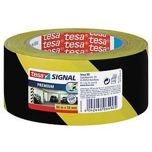 Signaaliteippi Tesa musta/keltainen 66mx50mm