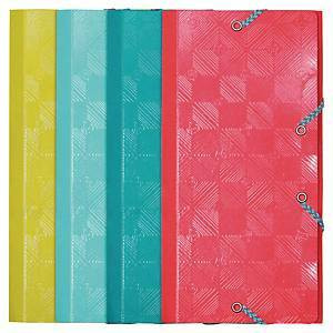 Kulmalukkokansio 12 x 23,5cm värilajitelma, 1 kpl=4 kulmalukkokansiota