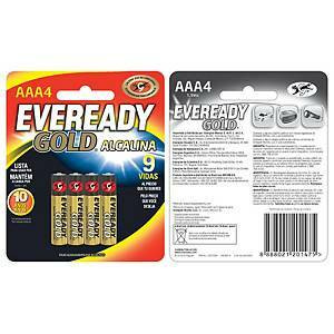 Eveready Gold AAA/LR03 alkaliparisto, 1 kpl=4 paristoa