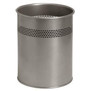 Metallinen roska-astia 14,7L hopea