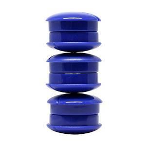Valkotaulumagneetti 27mm sininen, 1 paketti=6 kappaletta