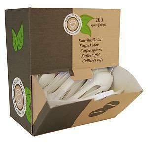 Kertakäyttöinen kahvilusikka muovi 125mm valkoinen, 1 kpl=200 lusikkaa
