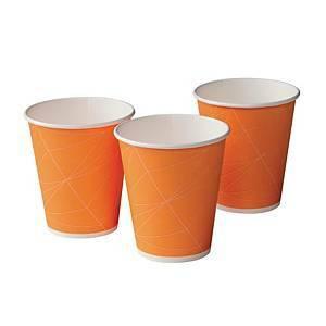 Kertakäyttö kuumakuppi 250ml oranssi, 1 kpl=80 kuppia
