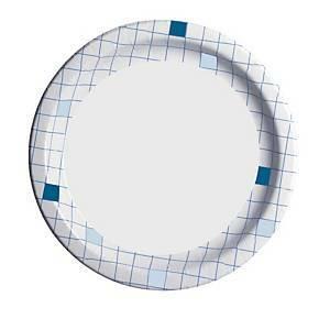Kartonkilautanen 23cm ruutu, 1 kpl=50 lautasta