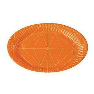 Kartonkilautanen 15 cm oranssi, 1 kpl=100 lautasta