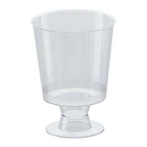 Kertakäyttöinen viinilasi muovi 120/150ml, 1 kpl=25 lasia