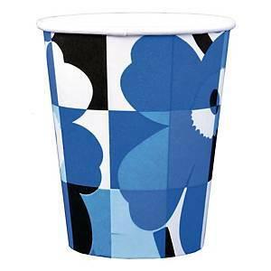 Marimekko Miniruutu unikko sininen pikari, 1 kpl=8 pikaria
