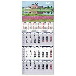 Triplanner suuri seinäkalenteri 2021 297 x 397 mm
