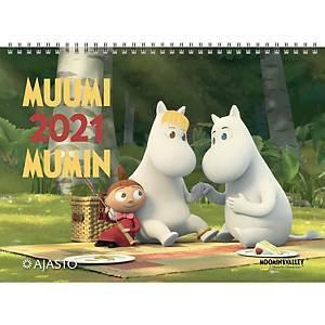 Muumikalenteri 2021 seinäkalenteri 290 x 420 mm