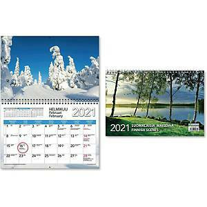 Suomalaisia maisemia seinäkalenteri 2021 300 x 400mm