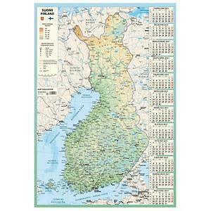 Karttakalenteri seinäkalenteri 2021 590 x 850 mm