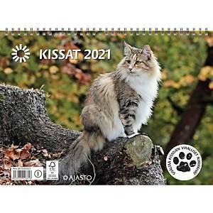 Kissat seinäkalenteri 2021 290 x 420 mm