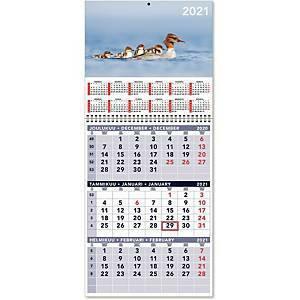 Triplanner pieni seinäkalenteri 2021 232 x 325 mm