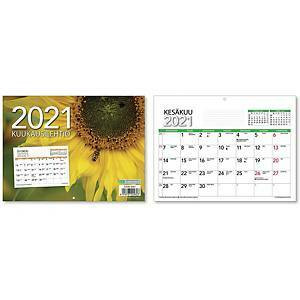 Kuukausilehtiö seinäkalenteri 2021 210 x 156 mm