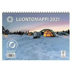 Luontomappi seinäkalenteri 2021 250 x 352 mm