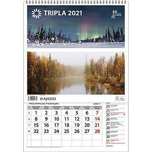 Tripla seinäkalenteri 2021 290 x 415 mm
