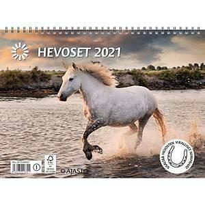 Hevoset seinäkalenteri 2021 290 x 420 mm