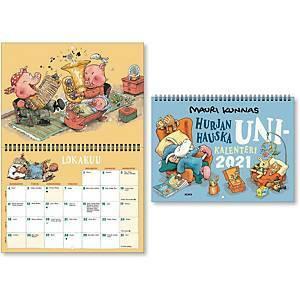 Mauri Kunnas seinäkalenteri 2021 285 x 420 mm