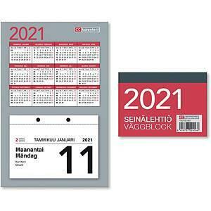 Seinälehtiö seinäkalenteri 2021 77 x 110 mm