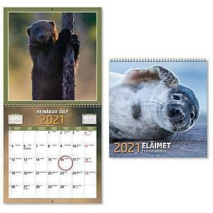 Eläimet seinäkalenteri 2021 300 x 600 mm