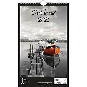 Ajasto C`est La vie! seinäkalenteri 250x415