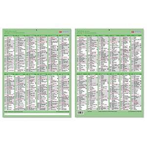 Suuri vuosikalenteri taulukkokalenteri 2021 310 x 400 mm