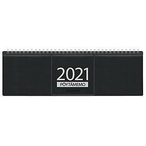 Pöytämemo pöytäkalenteri 2021 305 x 90 mm musta