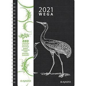 Wega Eko pöytäkalenteri 2021 A5 musta