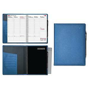 Viikkomuistio Plus pöytäkalenteri 2021 A5 sininen