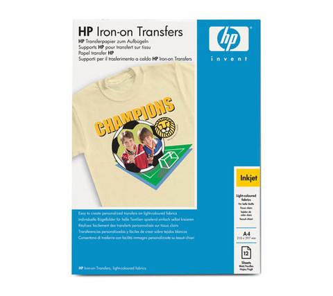 HP C6050A IRON-ON SIIRTOMATERIAALI  A4, 12 kpl