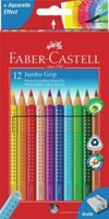 Värikynäsetti Kids Jumbo Grip, 12 kynää ja teroitin