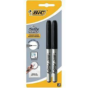 Tekstiili-/pesulakynä musta, 1 kpl=2 kynää