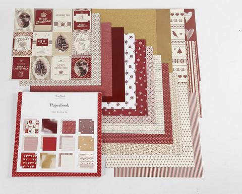 Punainen kuviopaperi 30,5X30,5cm 50kpl