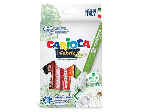 Tekstiilitussi Carioca 10 sävyä