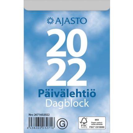 Päivälehtiö/Dagblock seinäkalenteri 2022 83 x 128 mm