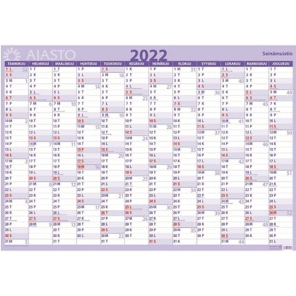 Seinämuistio seinäkalenteri 2022 850 x 590mm