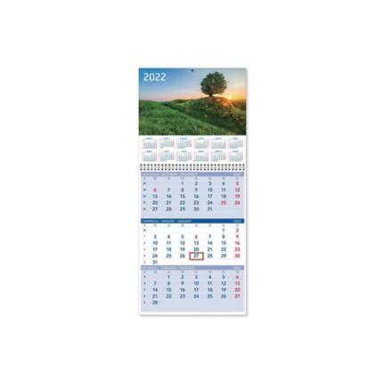 Triplanner pieni seinäkalenteri 2022 232 x 325 mm