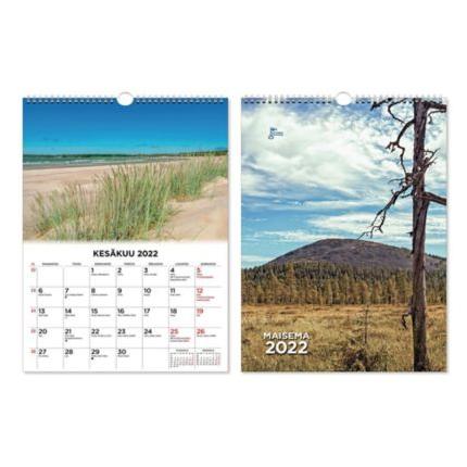 Suuri maisemakalenteri seinäkalenteri 2022 300 x 400 mm