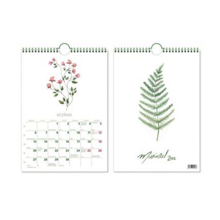 CC 5572 Minimal seinäkalenteri 2022