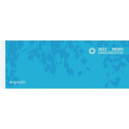 Memo viikkomuistio 255x95mm 2022 sininen