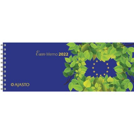 Euro Memo pöytäkalenteri 2022 255 x 95 mm