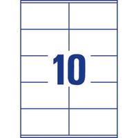 Monitoimitarra 105 x 57mm 10-osainen, 1 kpl=1000 tarraa