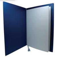 Adressikansi kultanyörit A4 sininen 4 lehteä