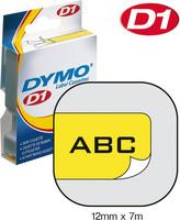 Dymo teippi 12mmx7m 45018 musta/keltainen