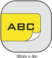 Dymo S0721670 Letratag tarranauha 12mm muovi keltainen