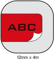 Dymo S0721680 Letratag tarranauha 12mm muovi punainen