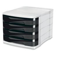Vetolaatikosto 4 laatikkoa musta