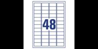 Säänkestävä Avery L4778 Heavy Duty tarra 45,7 x 21,2mm 48-os. valkoinen, 1 kpl=960 tarraa