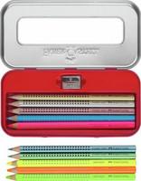 Värikynä Jumbo Grip neon + metallivärit, 10 kpl/sarja