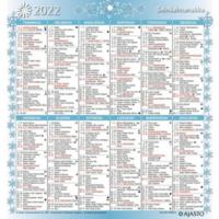 Seinäalmanakka seinäkalenteri 2022 197 x 210 mm